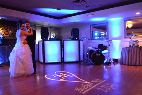 Monogram Gobo Lighting Ri Amp Ma Wedding Party Dj Dj